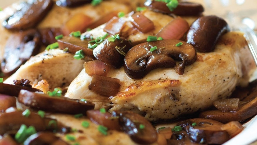 Spice up an ordinary protein with mushrooms and chives for a delicious Summer meal.