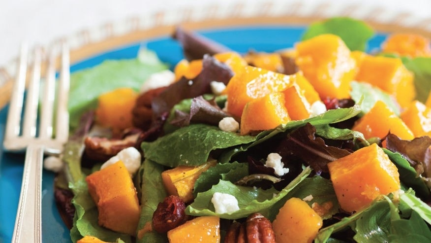 Butternut squash salad is a light and refreshing option for lunch on a hot Summer day.