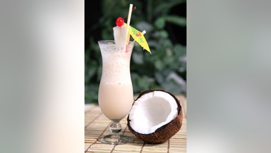 This coconut drink is perfect for summer.