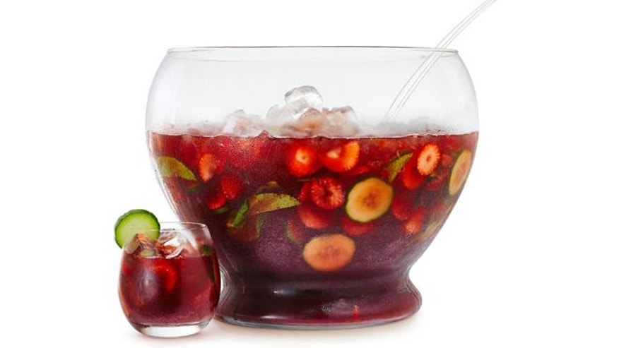 This is a delicious and festive punch perfect for your Bastille Day party.