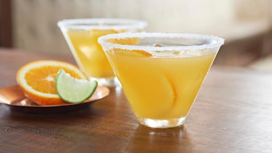A gorgeous, fresh orange margarita.