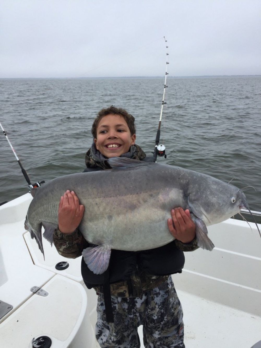 10-year-old angler catches potential world-record catfish