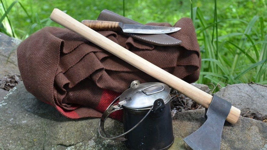 Gear such as this helped frontiersmen survive in the harsh wilderness.