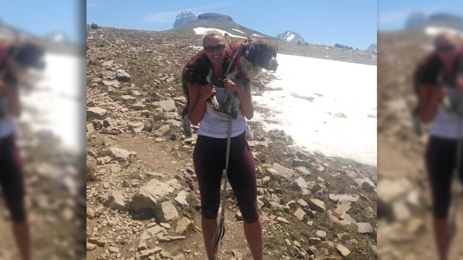 The mom of three ultimately adopted Boomer the English Springer Spaniel after rescuing him on a recent hike.
