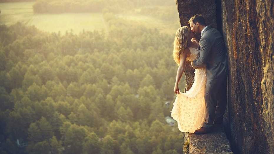 Jay and Vicki Philbrick have been photographing couples at stunning heights for 10 years.