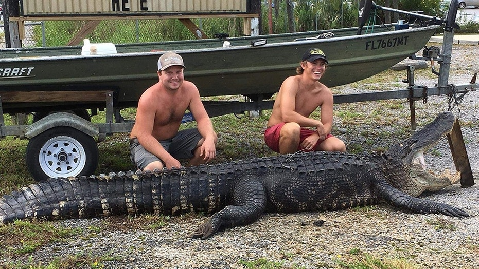 Two Florida men couldn't believe their luck when they made the huge catch.
