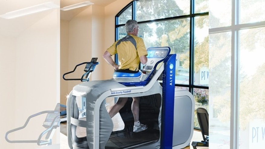 The NASA-inspired AlterG Anti-Gravity treadmill helps patients recover and athletes train by minimizing the impact of running and walking on a person's body.