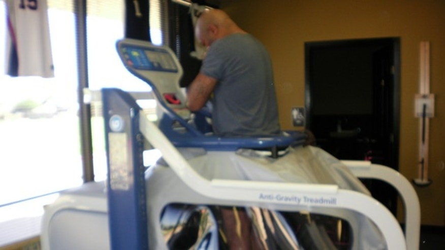 "Damon Warren has been using the AlterG treadmill for seven months, and in that time, he has been able to abandon his wheelchair and crutches for a cane. ""That was a very strong feeling of triumph,"" he said. ""Everyday my confidence builds a little more. Now I'm running on the AlterG."""