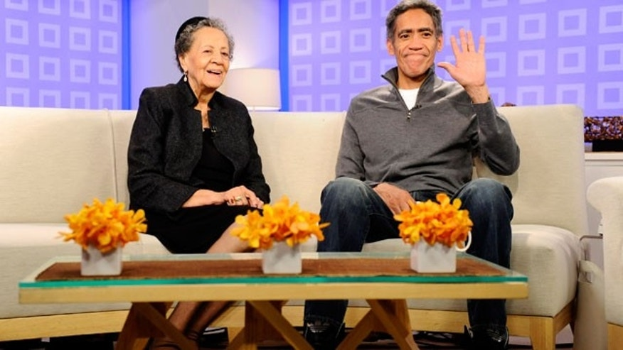 "Ted Williams and his mother Julia appear on NBC's ""The Today Show."" (AP)"