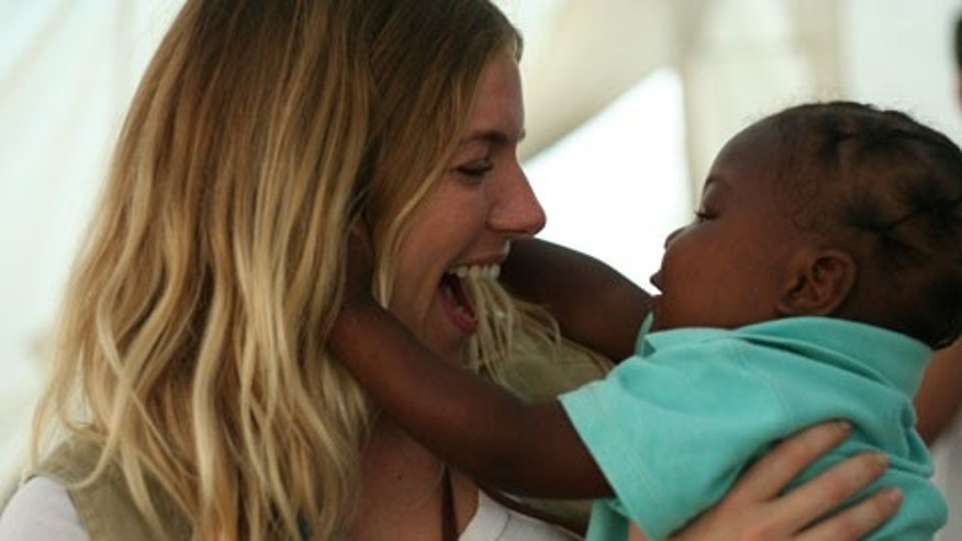 As a Global Ambassador for International Medical Corps, actress, Sienna Miller, visited the organization's clinics in Haiti to raise awareness of the great humanitarian needs in the devastated country.