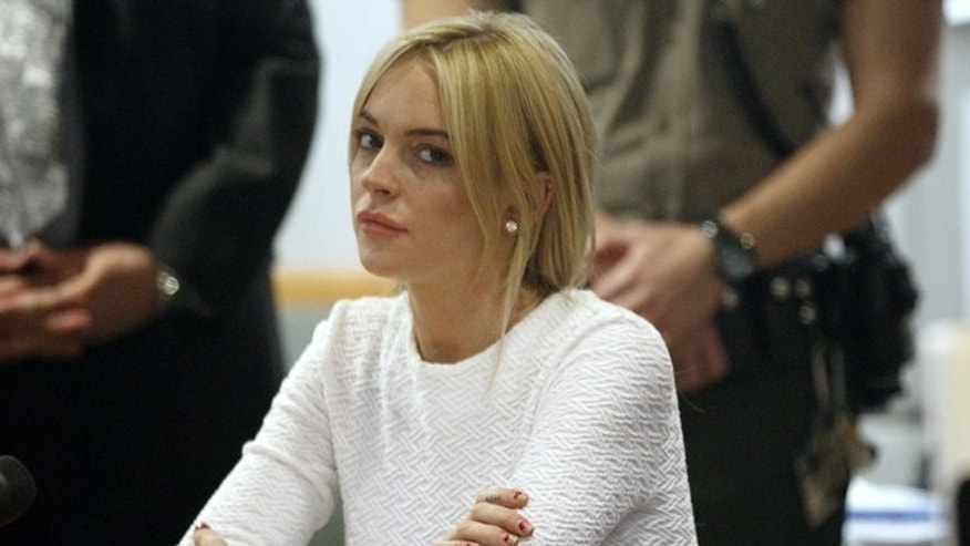 Feb. 9, 2011: Actress Lindsay Lohan appears in court as she pleads not guilty to a grand theft charge of stealing a $2,500 necklace from a jewelry store in Los Angeles.