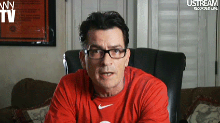 "Charlie Sheen on ""Sheen's Korner."" (UStream/Sheen's Korner)"