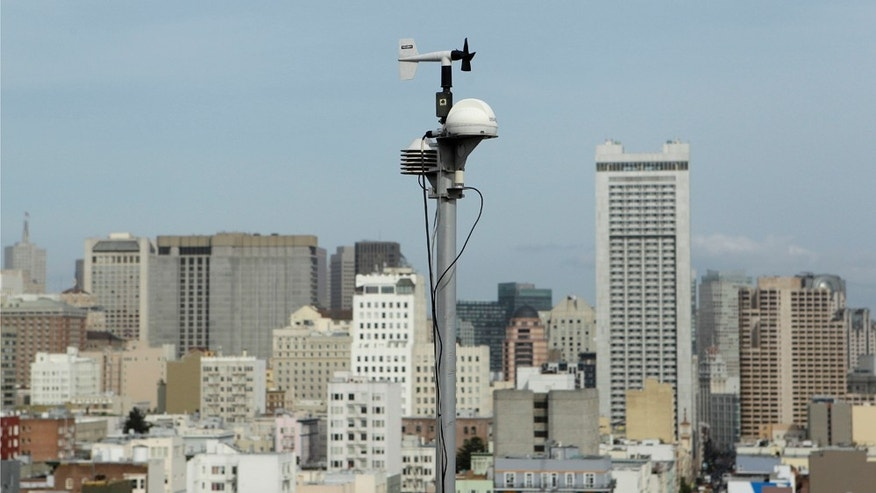 An Environmental Protection Agency RadNet (radiation network) monitor is shown on the roof of the Bay Area Air Quality Management building in San Francisco, Wednesday, March 16, 2011. Federal environmental regulators say they are adding more radiation monitors in the western United States and Pacific territories as concerns rise over exposure from damaged nuclear plants in Japan. (AP Photo)