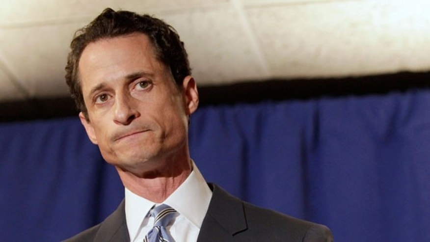 June 6: U.S. Congressman Anthony Weiner speaks to the press in New York.