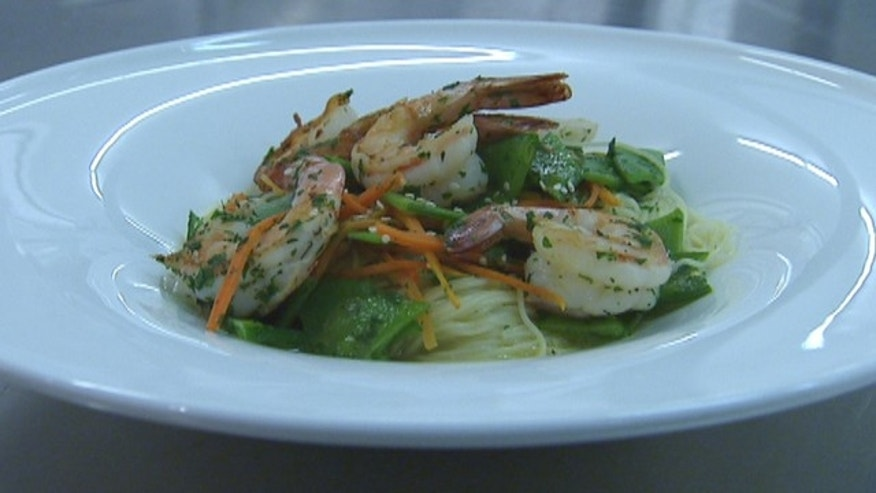 Sauteed Shrimp with Angel Hair Pasta
