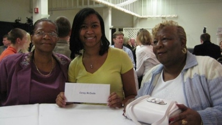 Dr. Carey McDade with her grandmother and aunt.