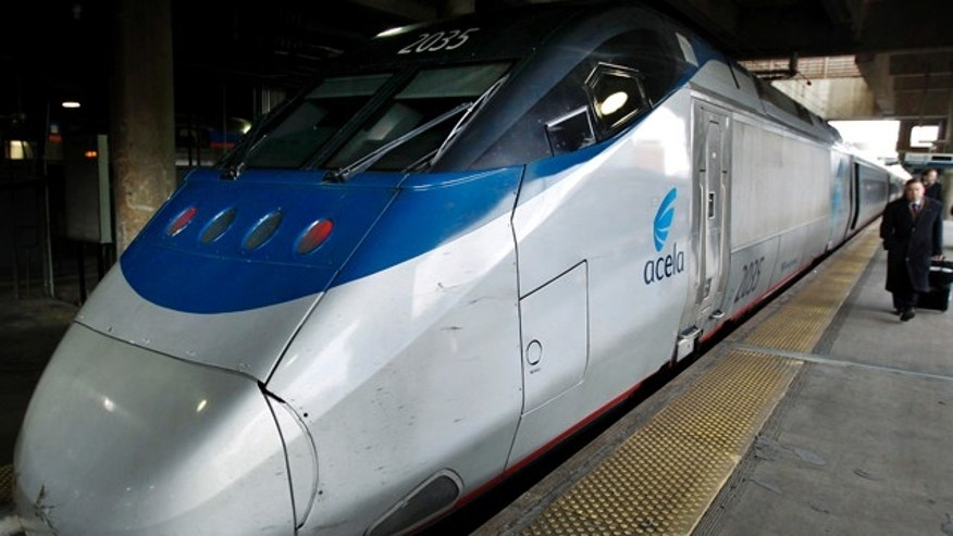 Amtrak's high speed Acela at Washington's Union Station seen after U.S. Vice President Joe Biden announced in Philadelphia that the U.S. government will dedicate $53 billion over six years to build new high-speed rail networks and make existing ones faster, February 8, 2011.