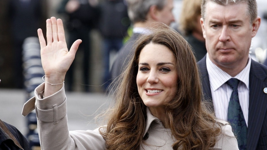 March 2011: Kate Middleton waves as she leaves Hillsborough Castle in Belfast, Northern Ireland.