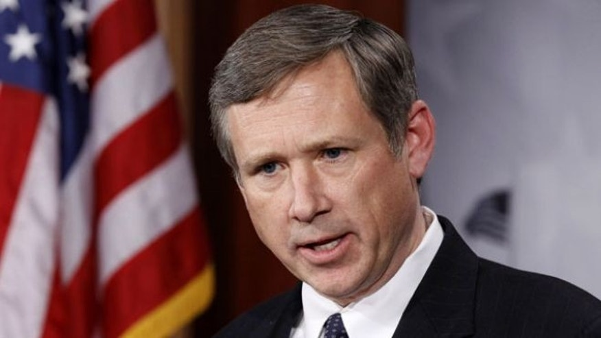 In this Dec. 16, 2010, file photo, Sen. Mark Kirk, R-Ill., talks to the media on Capitol Hill in Washington.