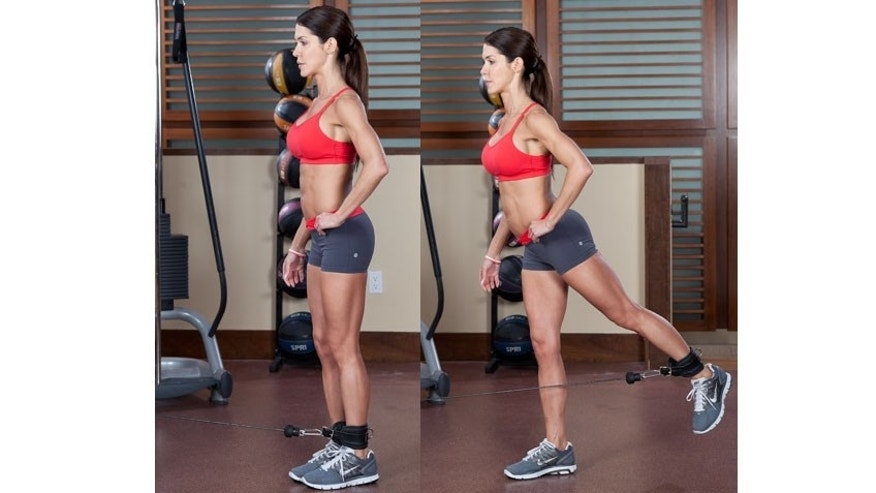 Hip extensions: When doing this move, extend the leg until your range of motion allow. Don't  hyperextend the back. Keep the chest up and core tight.