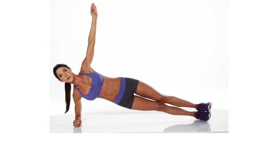 Side-plank: Keep your shoulder aligned with your elbow. Make sure that your body forms a straight line. Use the side of your abdominals to mantain the position.