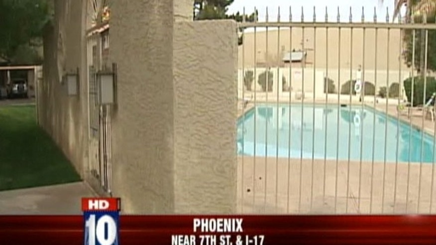 An Arizona man impaled himself through the head while trying to climb over a pool fence.