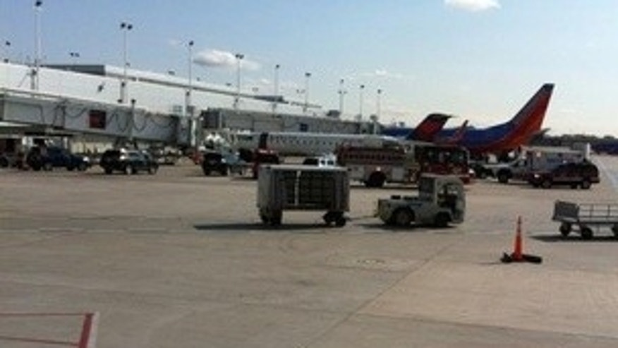 April 26: A Delta jet quarantined at Chicago's Midway Airport.