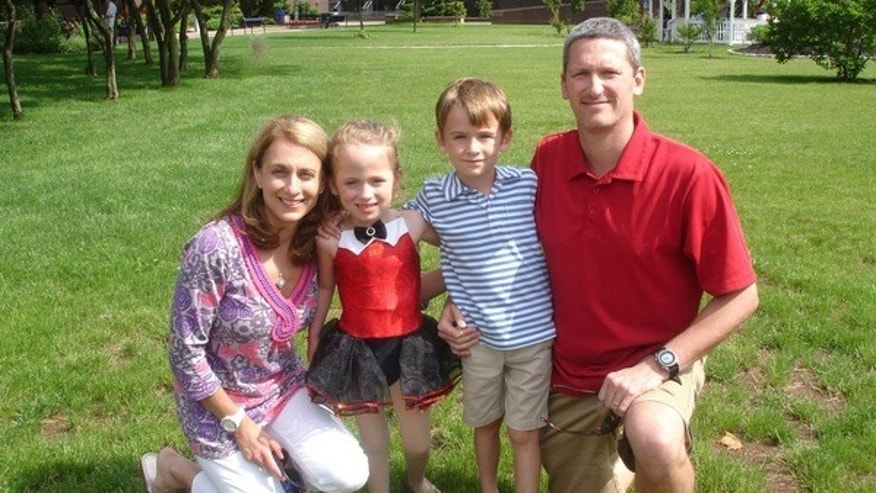 The Kelly family, including Addison's mom, Mary; Addison; her brother Chris, 7; and her dad Jed, was taken in June following Addison's ballet recital.