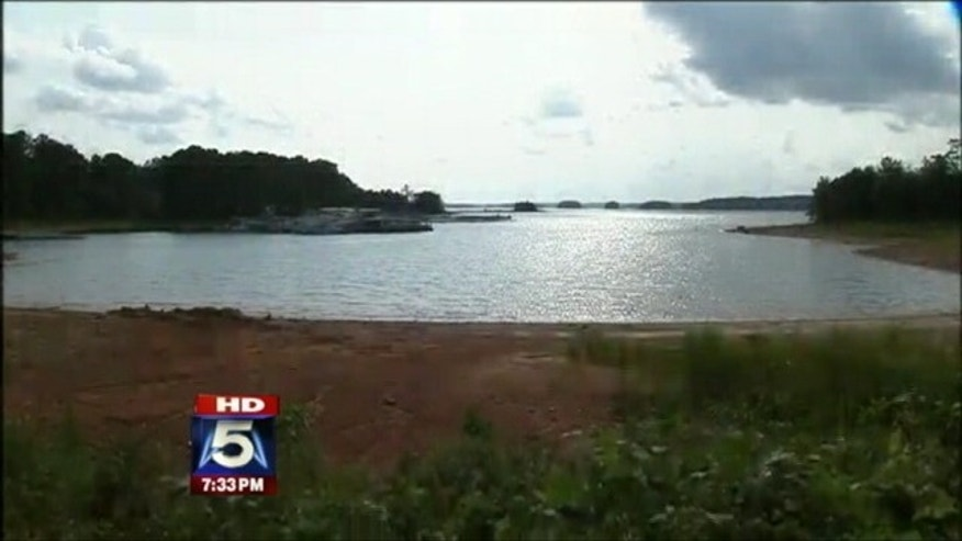 A girl was rushed to the hospital after falling from a boat on Lake Lanier in Georgia
