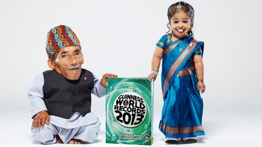 The world's shortest woman, Jyothi Amge, 18, of Nagpur, India, recently met the world's shortest man, Chandra Bahadur Dangi, 72, of Nepal, in Italy.