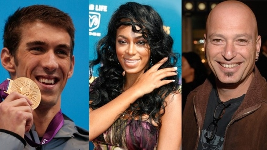 Michael Phelps, Solange Knowles and Howie Mandel (Reuters)