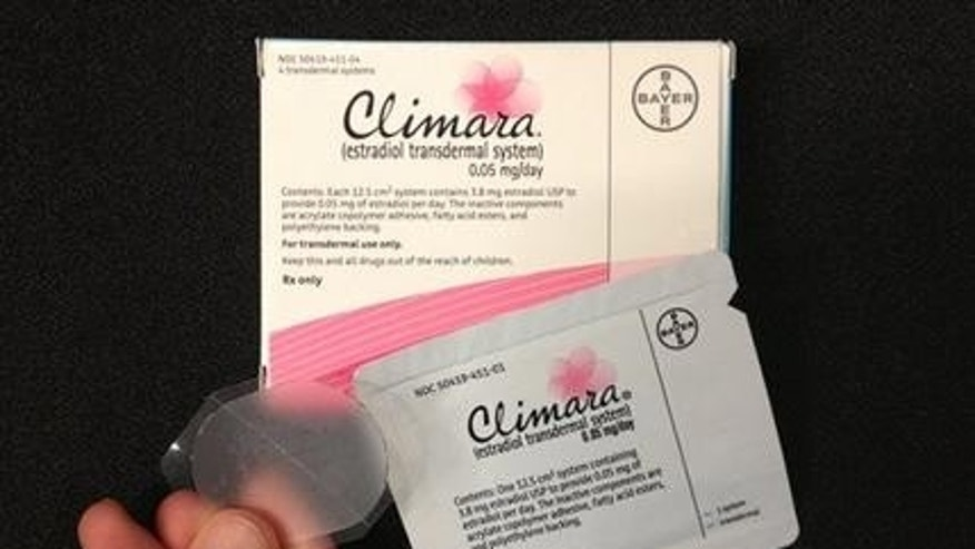 This Tuesday, Oct. 2, 2012 photo shows Bayer's Climara low-dose estrogen skin patch. (AP Photo)