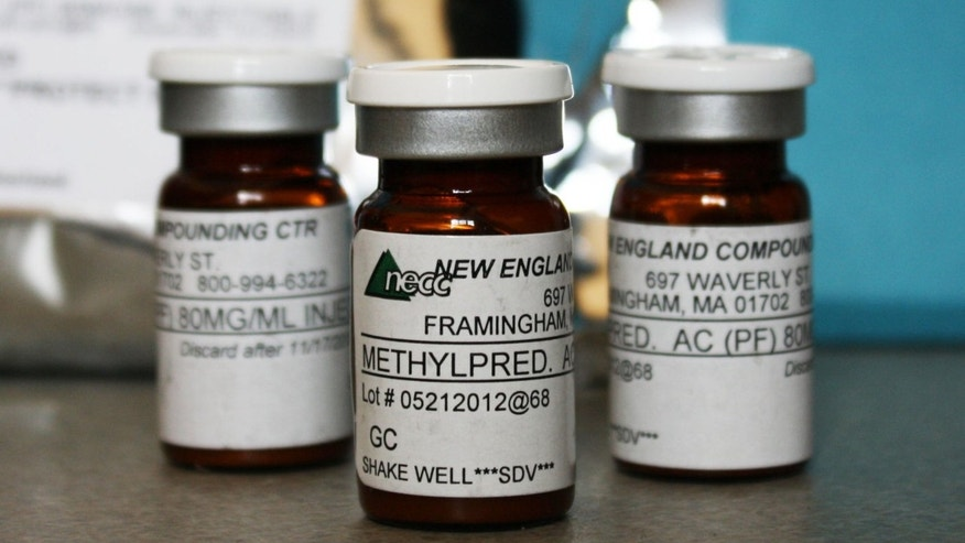Vials of the injectable steroid product made by New England Compounding Center implicated in a fungal meningitis outbreak.