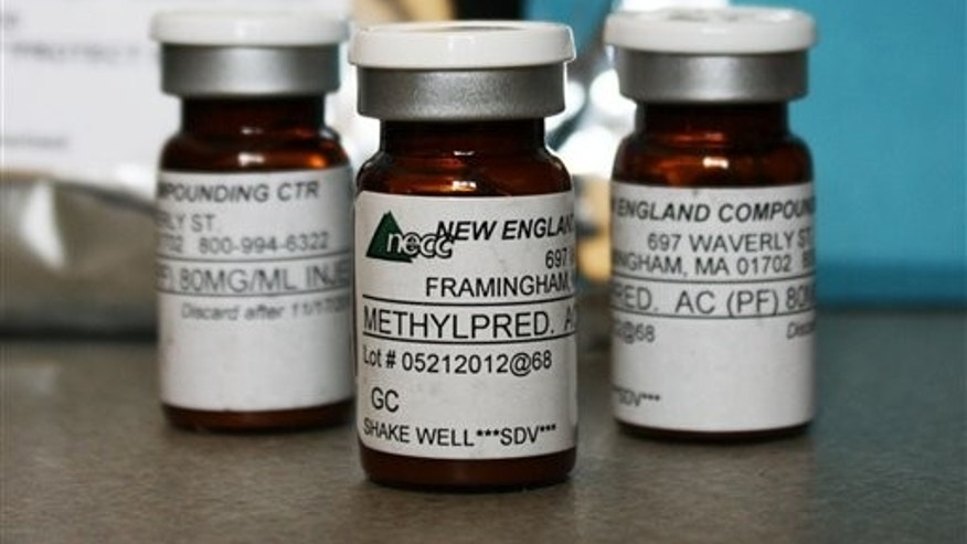 Vials of the injectable steroid implicated in the deadly meningitis outbreak that has spread to 11 states so far.