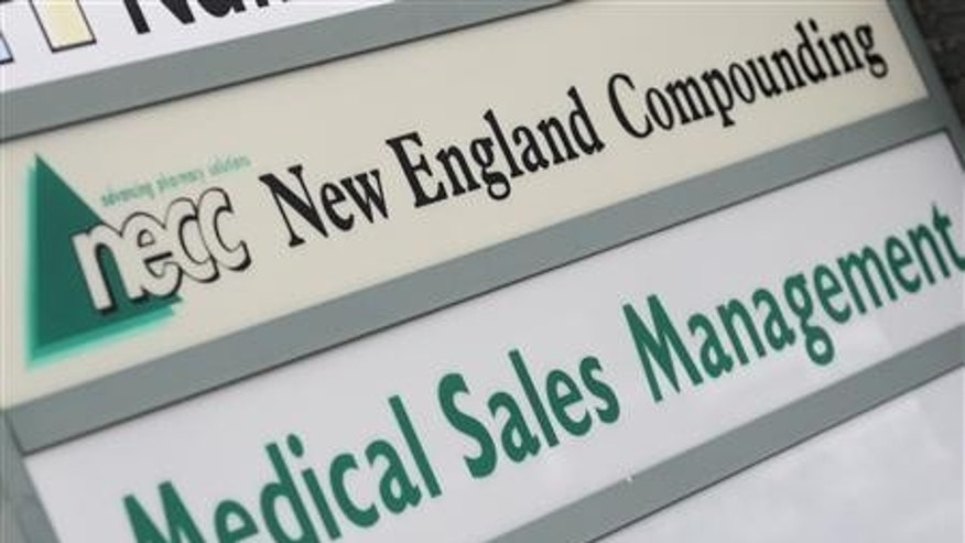 A sign for the New England Compounding Center (NECC),the pharmacy that produced the contaminated steroid suspected in a meningitis outbreak