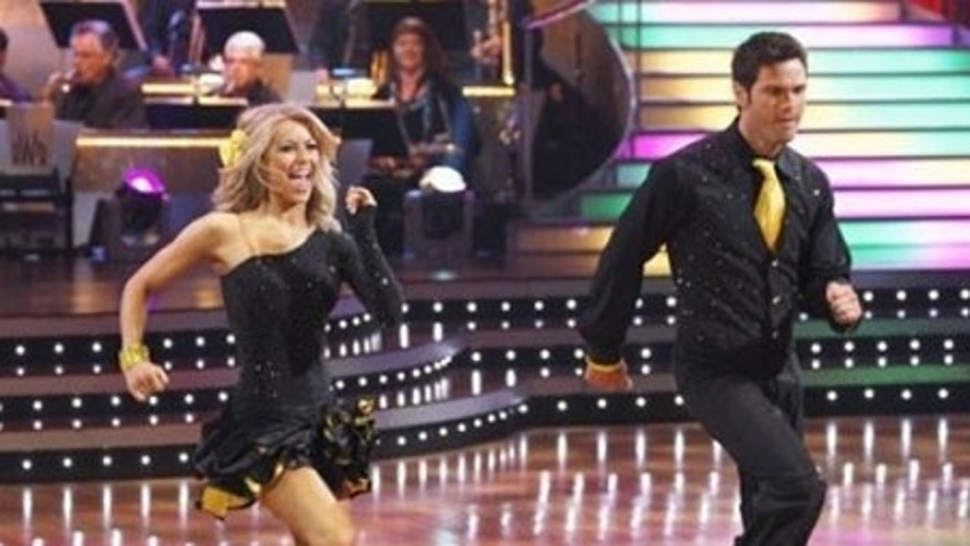 In this photo released by ABC, Julianne Hough, left , and Chuck Wicks perform on Dancing with the Stars Monday April 27, 2009 in Los Angeles. (AP Photo/ABC, Kelsey McNeal) ** NO SALES **