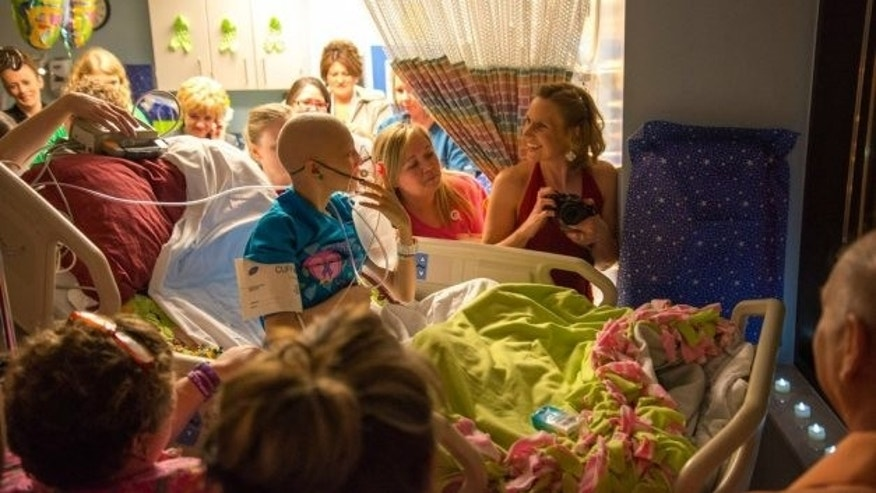 Katelyn Norman's hospital prom, photo courtesy of Michael Dayah
