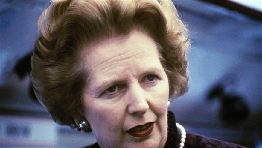 Former British Prime Minister Margaret Thatcher has died. (AP Photo/File)