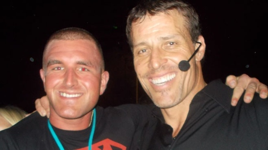 Charles D'Angelo with Tony Robbins (courtesy of D'Angelo's photo archives)