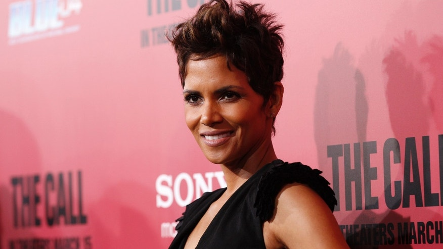 "Cast member Halle Berry poses at the premiere of ""The Call"" in Los Angeles, California."