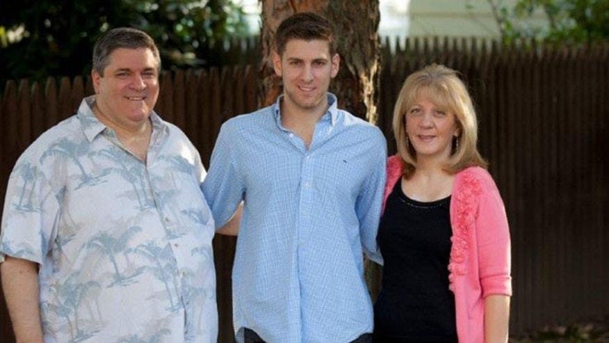 Terry with her husband, John, and son, David