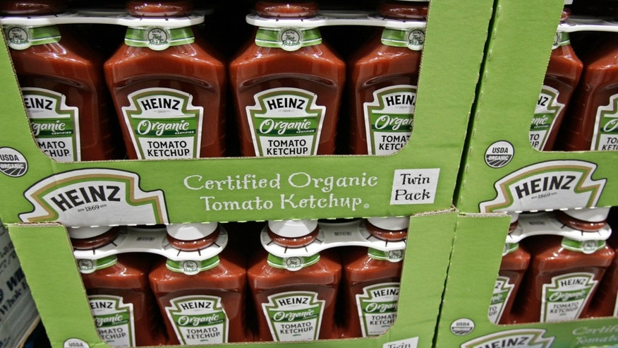 Bottles of Heinz organic tomato ketchup are on display inside Costco in Mountain View, Calif. The organic industry is gaining clout on Capitol Hill, prompted by rising consumer demand and its entry into traditional farm states.