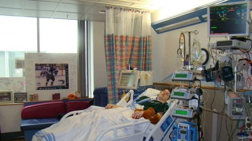 After his stroke, Wes (pictured here) was treated in the intensive care unit of The Children's Hospital of Philadelphia.