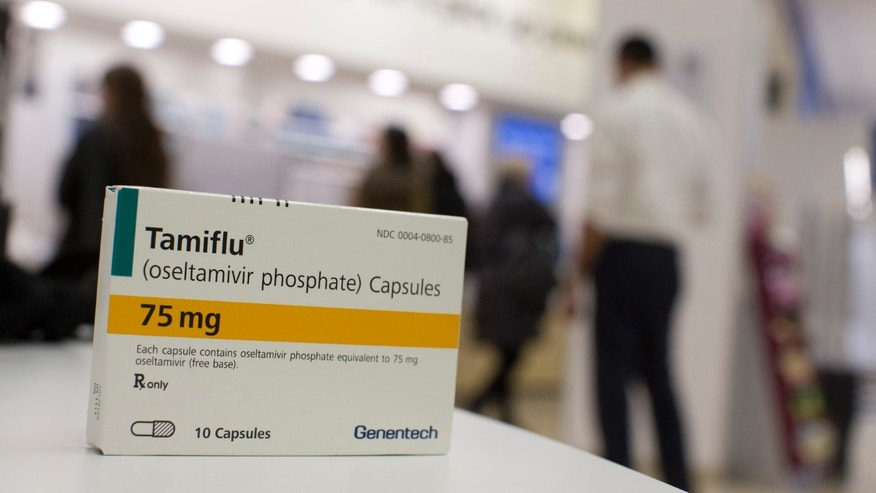 A box of Tamiflu is pictured at a Duane Reade pharmacy in New York.