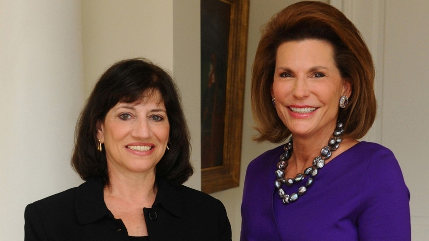 New President and CEO Judith A. Salerno, left, is shown with Komen Founder and now Chair of Global Strategy Nancy G. Brinker.
