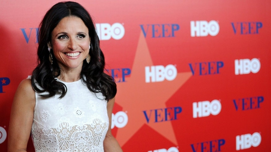 Julia Louis-Dreyfus attends the world premiere of the new HBO series VEEP in New York City April 10, 2012.  REUTERS/Stephen Chernin (UNITED STATES - Tags: ENTERTAINMENT) - RTR30KNJ