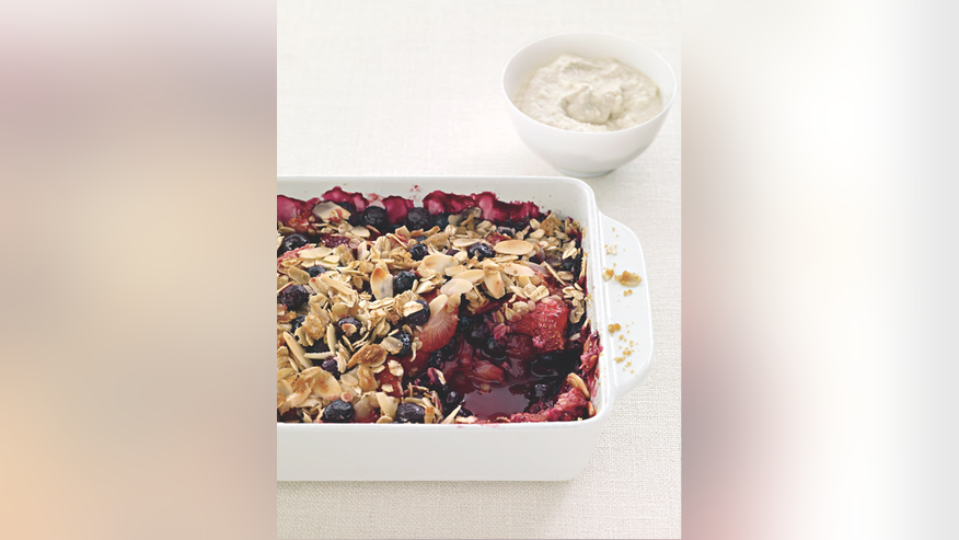 Oats-Almond Mixed Berry Crisp
