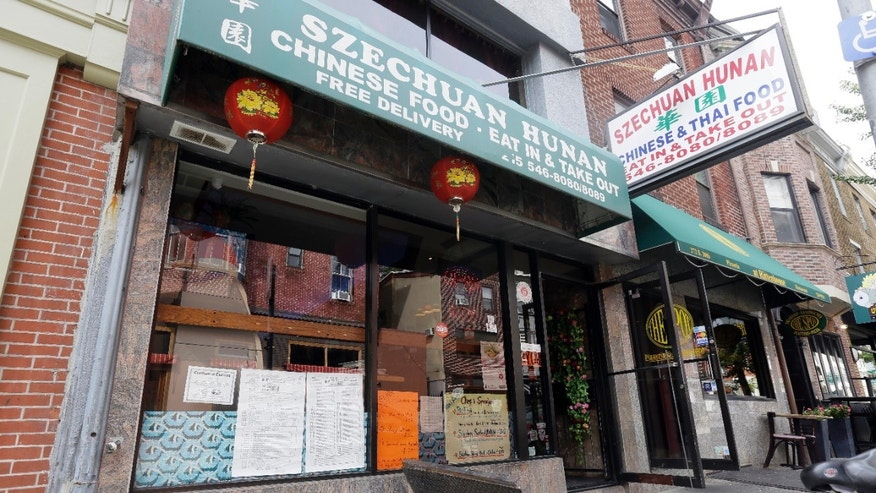 A Monday Aug. 19, 2013, photo shows the Szechuan Hunan restaurant which is participating in new low sodium initiative in Philadelphia. (AP Photo/Matt Rourke)