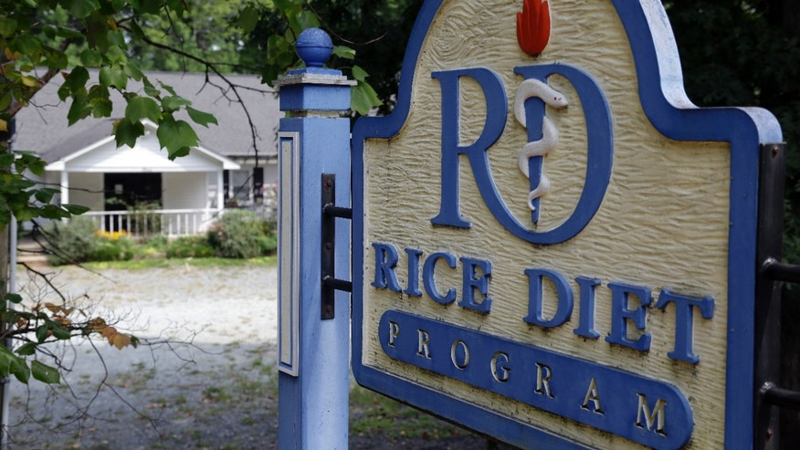 A sign in front of the now-closed Rice Diet facility in Durham, N.C. The company that took the Rice Diet banner after Duke University's hospital spun it off a decade ago has closed after more than 70 years.
