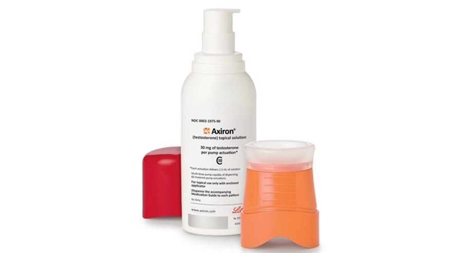 The drug Axiron, an underarm gel used for boosting levels of testosterone. Men's bodies convert some of the male sex hormone into estrogen, and levels of both decline with age.